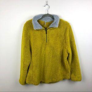 Jackets & Blazers - Lulu B Clothing Fuzzy Half Zip Jacket Extra Large